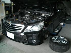 メルセデスベンツ 車検整備と板金塗装をご依頼いただきました