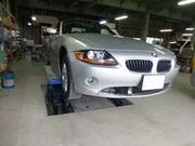 BMW Z4 フロントバンパー修理でさくら市からのご来店です。
