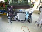 スバル サンバー 宇都宮市から板金塗装修理でのご来店です。